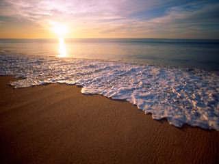 ... Papel de Parede para Celular - Natureza - Pôr do Sol na Praia ... bb5e8779f4